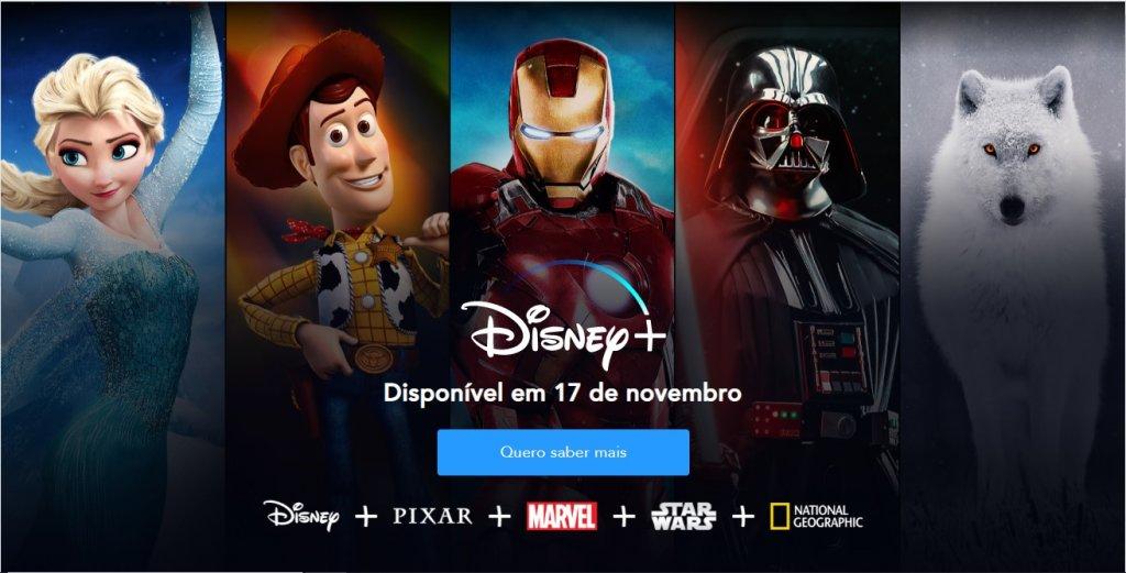 Lançamento do Disney+ no Brasil