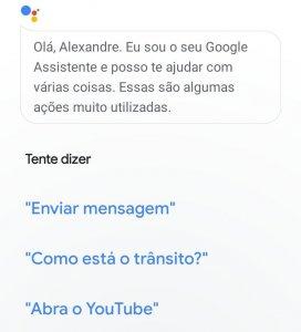 Falando com a Google Assistente
