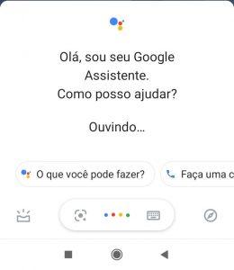 Acionando a Google Assistente