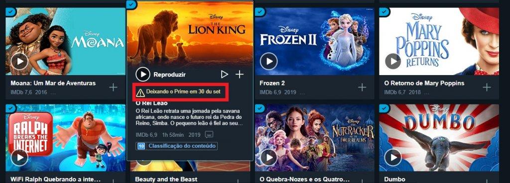 Produções da Disney deixam catálogo do Prime Video graças ao Lançamento do Disney+