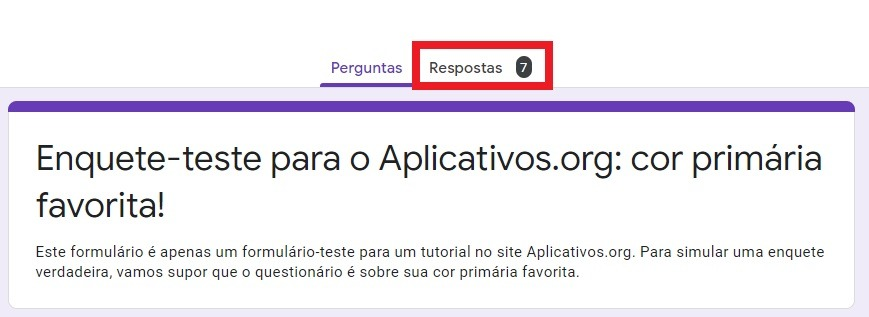 Respostas Google Forms