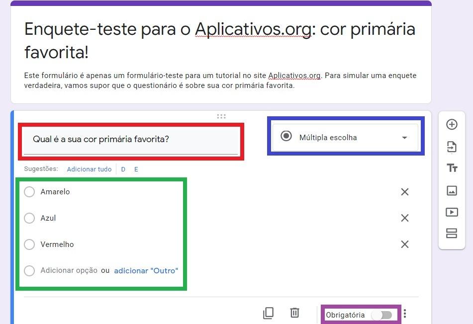 Perguntas e respostas do Google Forms